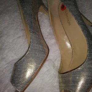 Enzo Angiolini Metallic Pumps